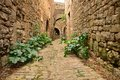 A narrow street in bruniquel a small medieval city in southern france near albi and toulouse Stock Photos