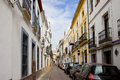 Narrow Street in Cordoba Royalty Free Stock Photo