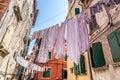 Narrow Street With Hanging Clothes-Rovinj, Croatia