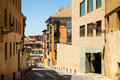 Narrow street of huesca arago Royalty Free Stock Photography