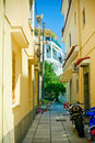 Narrow Street, Kos Island, Greece Royalty Free Stock Photo