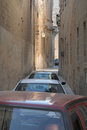 Narrow street in malta an extremely valletta Stock Photos