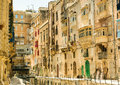 Narrow street in  Malta Royalty Free Stock Photo