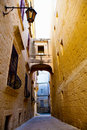 Narrow street of Mdina, Malta Stock Photos