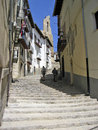 Narrow street Morella Royalty Free Stock Photos
