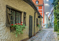 Narrow street in old riga latvia is the capital and largest city of a major commercial cultural historical and financial center of Stock Photos