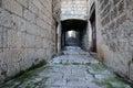 Narrow street in the old town of Korcula, Croatia Royalty Free Stock Photo