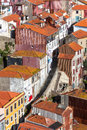 Narrow Street in Old Town, Porto, Portugal Royalty Free Stock Image