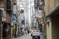 Narrow street in Osaka, Japan Stock Photography