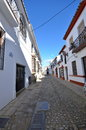 Narrow street Ronda Spain Royalty Free Stock Photo