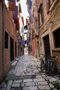 Narrow street of Rovinj Royalty Free Stock Image