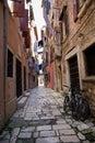 Narrow street of Rovinj