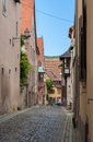 A narrow street in saverne alsace france Stock Image