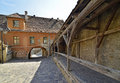 Narrow street Sighisoara Royalty Free Stock Photos
