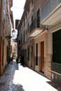 Narrow street of Soller Stock Image