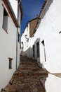 Narrow street in spain castellar de la frontera andalusia Stock Image