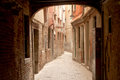 Narrow street in Venice Royalty Free Stock Photo