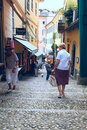 Narrow streets of Bellagio Royalty Free Stock Image