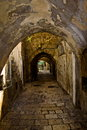 The narrow streets of  Jerusalem. Royalty Free Stock Photography