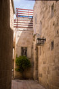 Narrow streets of old city jerusalem Royalty Free Stock Image