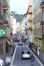 On the narrow streets of old city in Nice Royalty Free Stock Photography