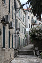 Narrow streets of the old european city landscape Stock Images