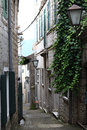 Narrow streets of the old european city landscape Stock Photo