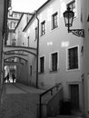 Narrow streets of Prague Royalty Free Stock Image