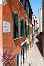 Narrow streets of venice beautiful view the italy Stock Photos
