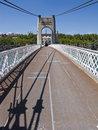 Narrow suspension bridge Royalty Free Stock Image