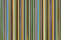 Narrow vertical lines many green blue brown pattern repeated barcode background Royalty Free Stock Photo