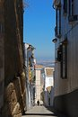 Narrow village street, Estepa, Spain. Royalty Free Stock Image