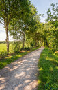Narrow winding path in a rural landscape Royalty Free Stock Photo