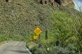 Narrow winding road sign Royalty Free Stock Photo