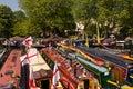 Narrowboats at Canalway Cavalcade Royalty Free Stock Image