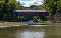 Narrows covered bridge the in marshall indiana spans sugar creek in turkey run state park Stock Photography