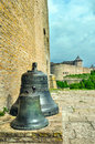 Narva bells at an entrance to a tower long herman of castle Stock Photography