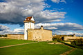 Narva castle estonian in summer Stock Images