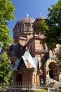 The narva voskresensky cathedral orthodox temple narva estonia Royalty Free Stock Image