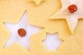 Narządzania bożych narodzeń ciastka Zdjęcia Royalty Free