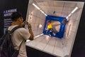 Nasa space shuttle photobooth bangkok july in bangkok comic con on july at siam paragon bangkok thailand Royalty Free Stock Photos