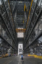 Nasa vab tour inside vehicle assembly building Stock Photos