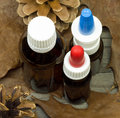 Nasal spray a on autumnal background Stock Photography