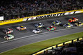 NASCAR - Cars in Turn 1 at Charlotte Royalty Free Stock Photo