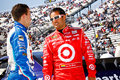 NASCAR Drivers Montoya and Allmendinger Royalty Free Stock Image