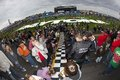 NASCAR: Fans sign Daytona start finish line Stock Photography