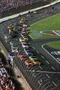 NASCAR - Go Green! Royalty Free Stock Photo