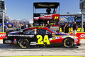 NASCAR - Gordon's #24 Pre Race Pit Box Royalty Free Stock Images