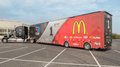 Nascar hauler for mcdonalds jamie mcmurray chip ganassi felix sabates racing team Royalty Free Stock Photo