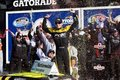NASCAR: James Buescher wins the Drive4COPD 300 Royalty Free Stock Photo
